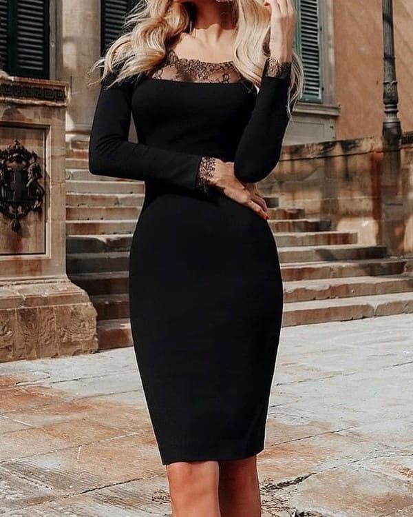 Sukienka Kendallme z okrągłym dekoltem midi