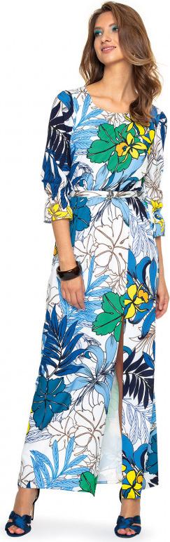 Sukienka L'AF w stylu casual maxi z długim rękawem