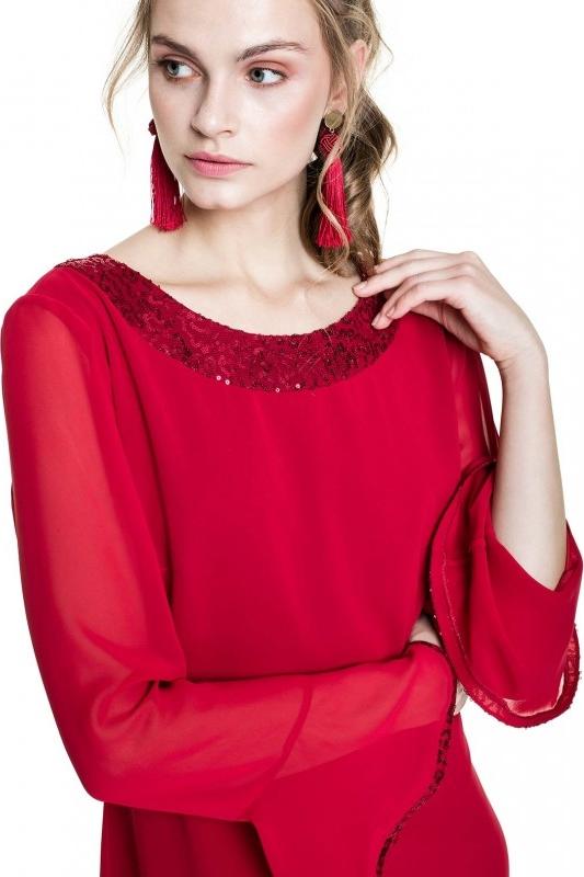 Sukienka L'AF z szyfonu mini