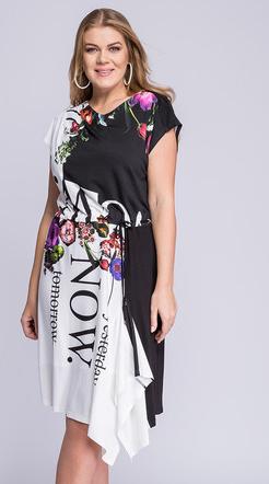 Sukienka La Venne midi w stylu casual