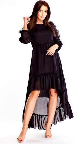 Sukienka Labella z tkaniny z długim rękawem