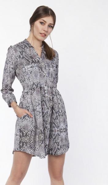 Sukienka Lanti z długim rękawem koszulowa