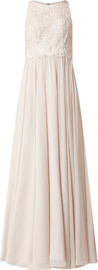 Sukienka Laona bez rękawów maxi z szyfonu