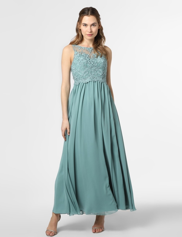 Sukienka Laona bez rękawów z szyfonu rozkloszowana