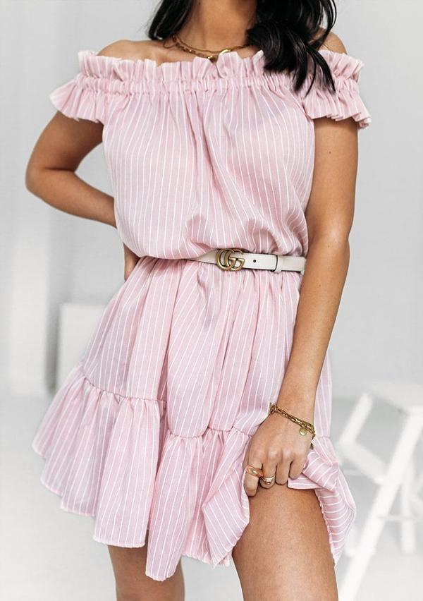 Sukienka Latika mini z krótkim rękawem