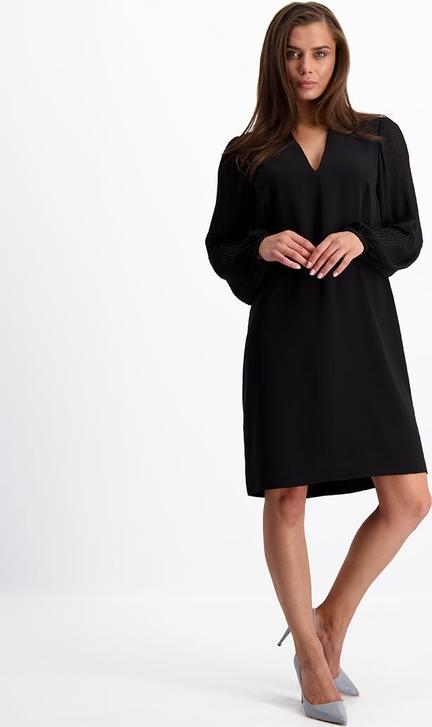 Sukienka Lavard mini z długim rękawem z tkaniny