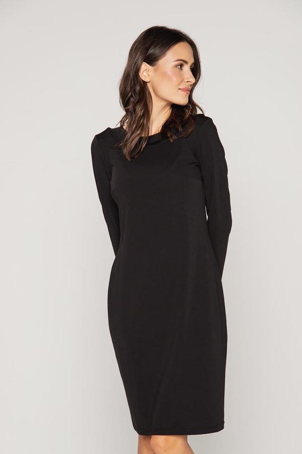 Sukienka Lavard z tkaniny w stylu casual z długim rękawem