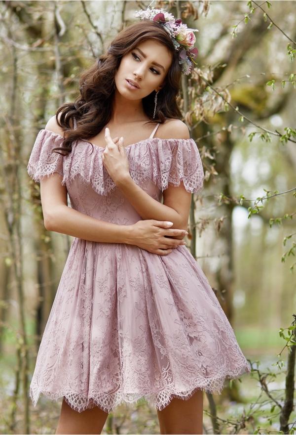 Sukienka LAVIKA z tkaniny w stylu boho