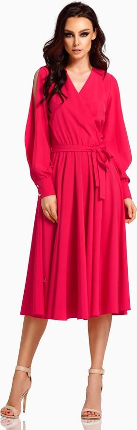 Sukienka Lemoniade midi z dekoltem w kształcie litery v kopertowa