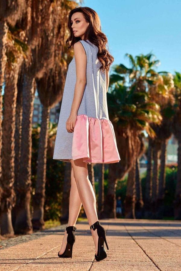 Sukienka Lemoniade mini bez rękawów z satyny