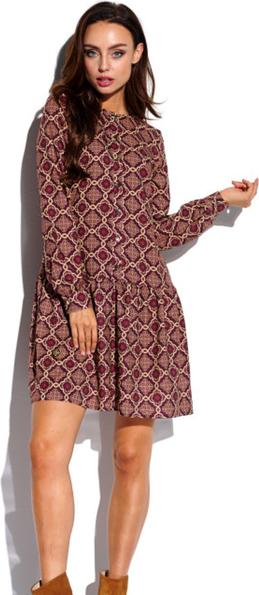 Sukienka Lemoniade mini z długim rękawem koszulowa