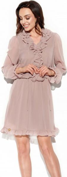 Sukienka Lemoniade mini z długim rękawem z żabotem