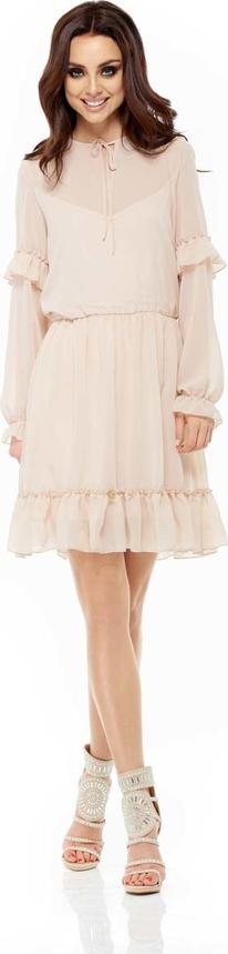 Sukienka Lemoniade mini ze sznurowanym dekoltem