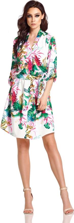 Sukienka Lemoniade w stylu casual midi z długim rękawem