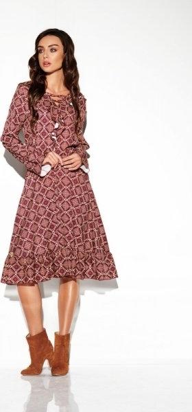 Sukienka Lemoniade z długim rękawem midi