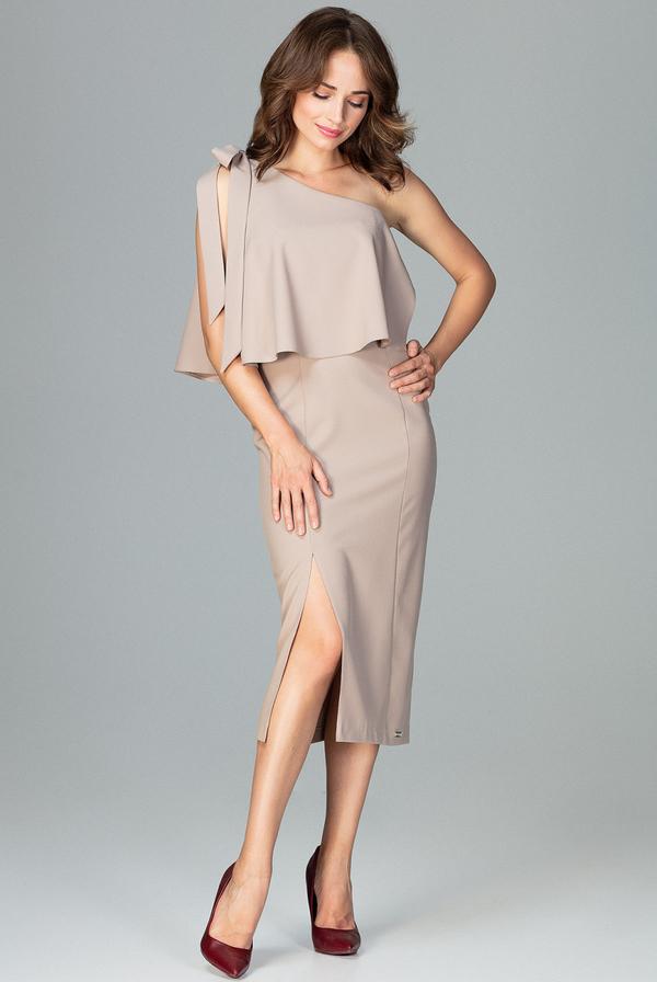 Sukienka LENITIF midi asymetryczna