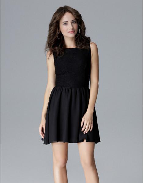 Sukienka LENITIF mini bez rękawów rozkloszowana