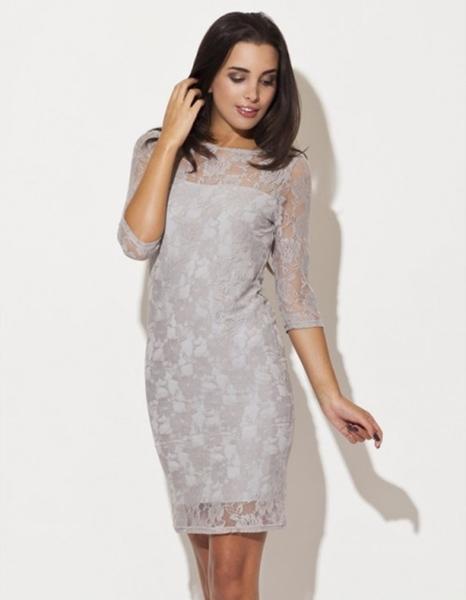 Sukienka LENITIF z długim rękawem