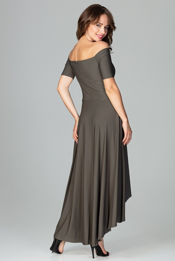 Sukienka LENITIF z krótkim rękawem maxi hiszpanka