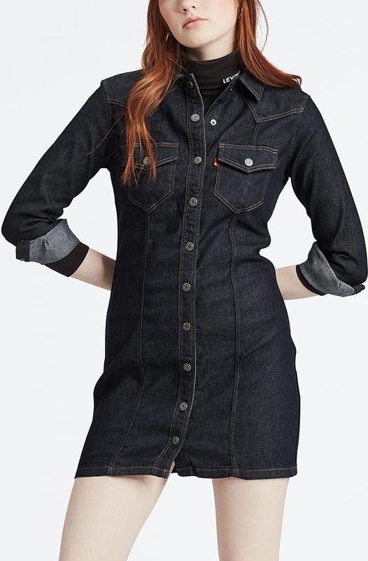 Sukienka Levis koszulowa mini