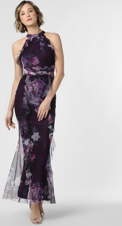 Sukienka Lipsy z dekoltem halter maxi bez rękawów