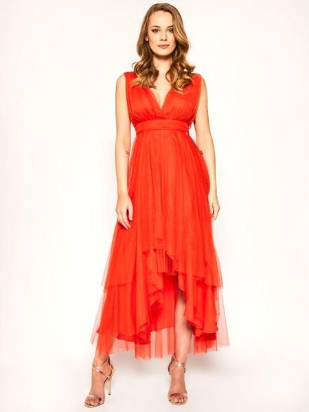 Sukienka Liu-Jo bez rękawów z dekoltem w kształcie litery v maxi