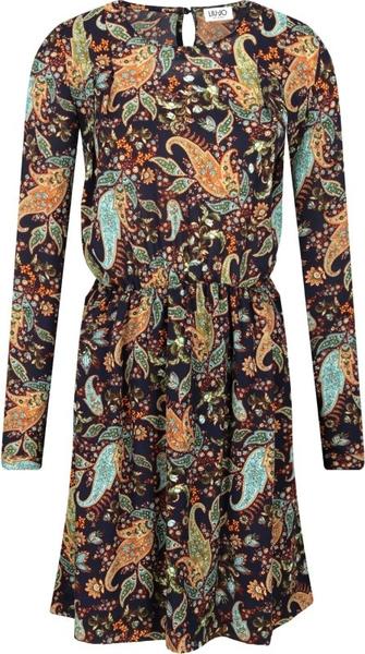 Sukienka Liu-Jo w stylu casual z długim rękawem rozkloszowana