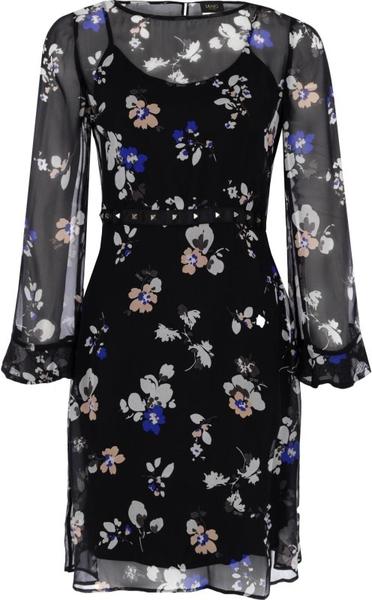 Sukienka Liu-Jo z jedwabiu midi w stylu casual