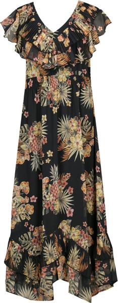 Sukienka Liu-Jo z krótkim rękawem z dekoltem w kształcie litery v