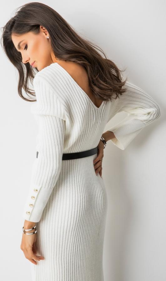 Sukienka Loci z długim rękawem maxi