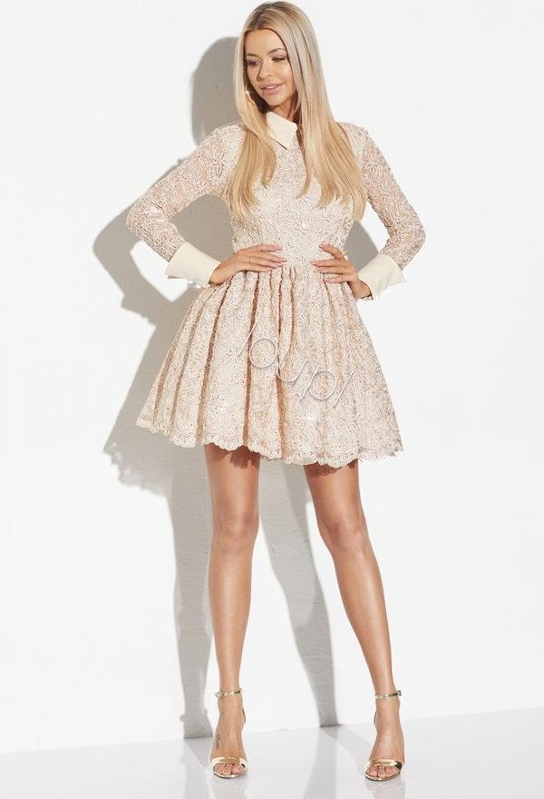 80% ZNIŻKI Sukienka LOU z długim rękawem rozkloszowana Odzież Damskie Sukienki TW SPQDTW-3