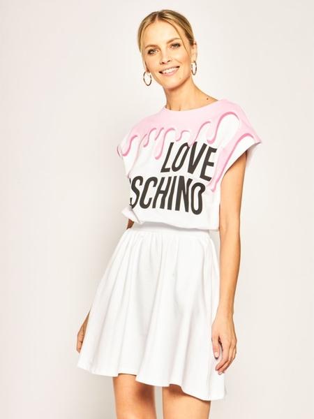 Sukienka Love Moschino mini z krótkim rękawem