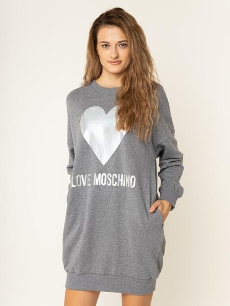 Sukienka Love Moschino z długim rękawem mini w stylu casual