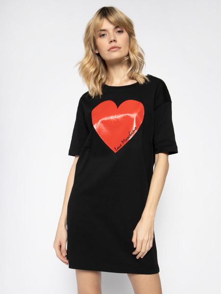 Sukienka Love Moschino z krótkim rękawem mini