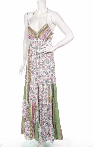 Sukienka Luna Llena na ramiączkach z dekoltem w kształcie litery v maxi