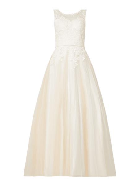 Sukienka Luxuar bez rękawów z tiulu