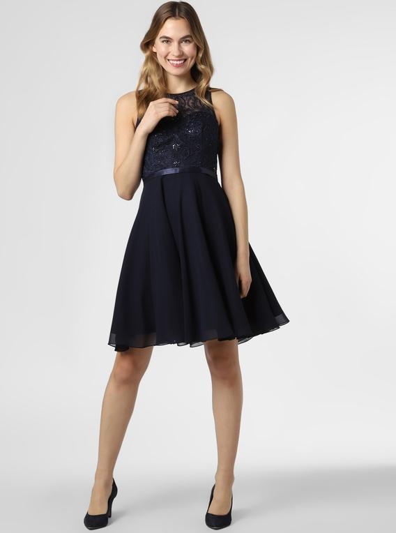 Sukienka Luxuar Fashion bez rękawów z okrągłym dekoltem midi