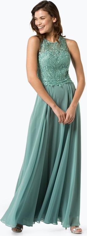 Sukienka Luxuar Fashion bez rękawów z szyfonu rozkloszowana