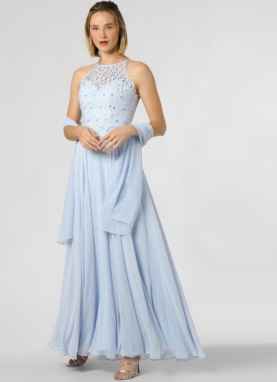 Sukienka Luxuar Fashion maxi bez rękawów z dekoltem halter