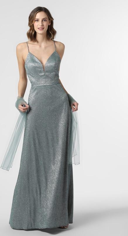 Sukienka Luxuar Fashion z dekoltem w kształcie litery v na ramiączkach