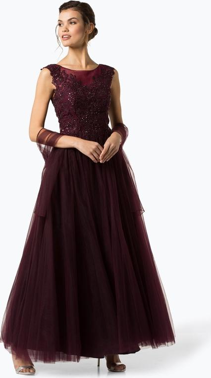 Sukienka Luxuar Fashion z okrągłym dekoltem maxi rozkloszowana
