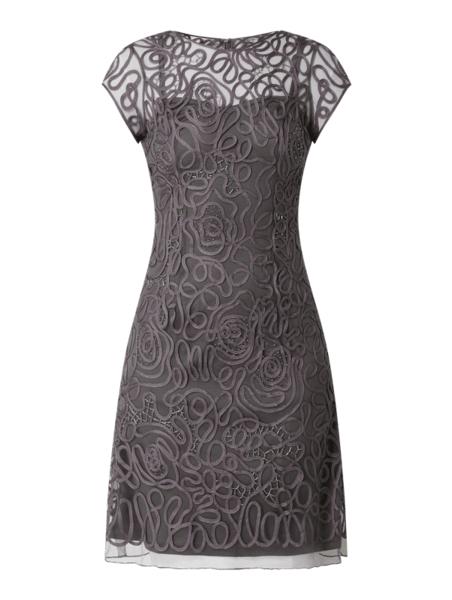 Sukienka Luxuar mini z okrągłym dekoltem