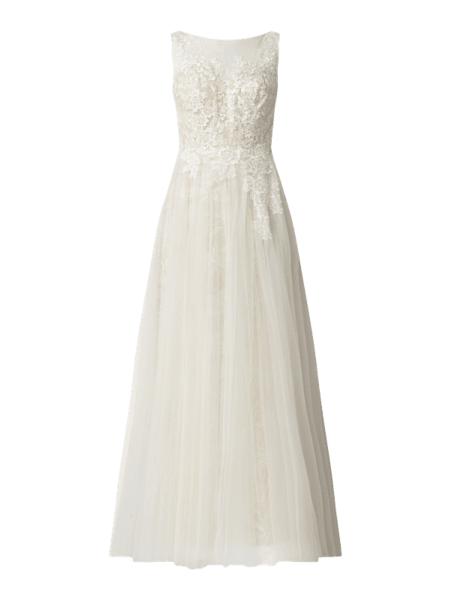Sukienka Luxuar rozkloszowana bez rękawów maxi
