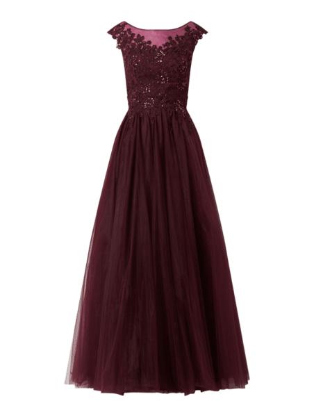 Sukienka Luxuar z okrągłym dekoltem bez rękawów rozkloszowana