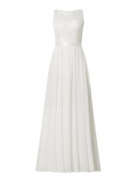 Sukienka Luxuar z satyny