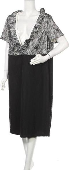 Sukienka M.I.M z dekoltem w kształcie litery v midi