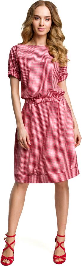 Sukienka Made Of Emotion midi z okrągłym dekoltem