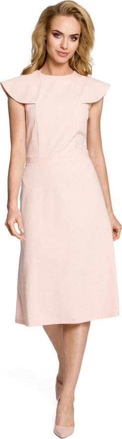 Sukienka Made Of Emotion midi z okrągłym dekoltem rozkloszowana