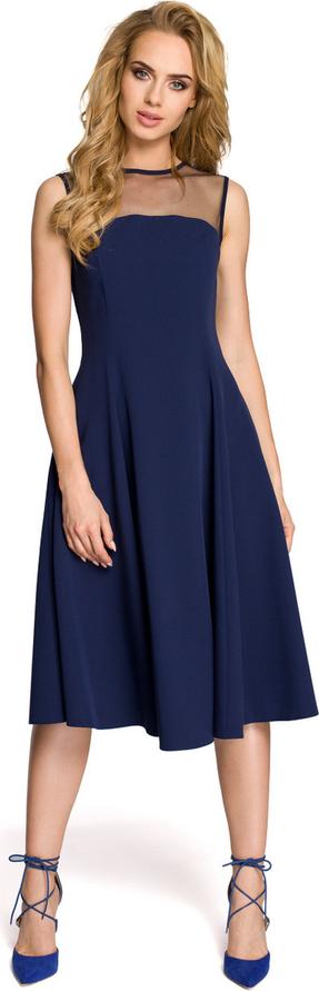 Sukienka Made Of Emotion rozkloszowana bez rękawów midi