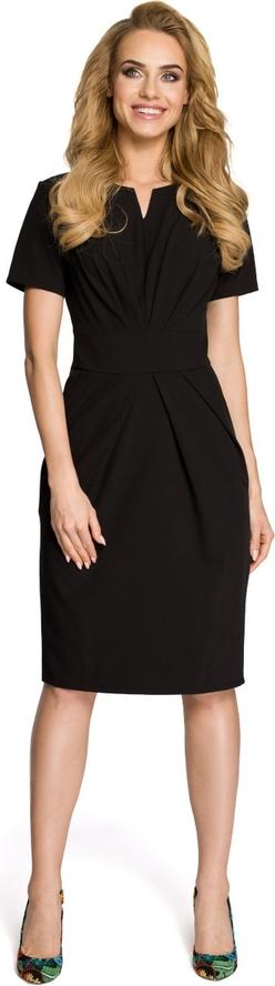 Sukienka Made Of Emotion z krótkim rękawem midi z dekoltem w kształcie litery v